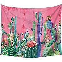 WXFC Tapicería de Pared Cactus Acuarela Suculentas Planta Floral Decoración de la Pared Gran Pared Colgante