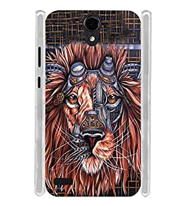 Lion Graphics Soft Silicon Rubberized Back Case Cover for Panasonic T45 4G :: Panasonic T45