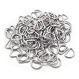 BronaGrand 100er Set D-Ringe Halbringe Vernickelt Loop Ring ohne Schweißnaht für Gürtelschnallen Taschen Gürtel, Innenbreite 13 mm