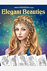 Elegant Beauties Grayscale coloring book: Coloring Book for Adults , Beautiful Hair Designs, Braids and Curls, Ladies  hats, Relaxing Coloring Pages Broché