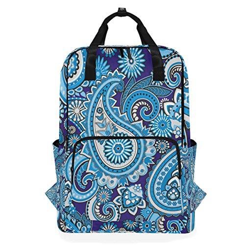 Hunihuni Asiatische Ethnische Paisleymuster Multifunktions-Casual Schule Büchertasche Wandern Reisen Daypack Schultertasche (Schule Asiatische)