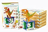 #9: Funvention Pack of 6) Paper T-Rex Automaton 3D Model with 4 Set of Animated Jaw Movements - DIY Science Educational Toy - STEM Learning Kit - Learn with Fun Do It Yourself Innovative Toy Kit for Kids - Birthday Return Gift