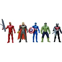 ANVITTOYWORLD Super Hero Toys Set - Capton America, thoor, Ironmaon, Hulka and Ent Man - 5 Action Hero Collection…