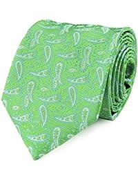 Cravate paisley vert