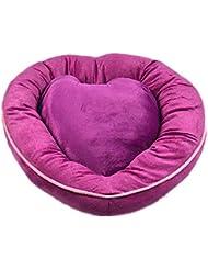 OOFWY Pequeña jerarquía del animal doméstico en forma de corazón del gato Sofá cama del perro del gato del cojín Nido , purple