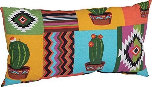 Beo ZK 60x30 BE912 Mexiko - Cojín Decorativo para Muebles de jardín 60 x 40 cm, Color Naranja, Amarillo...