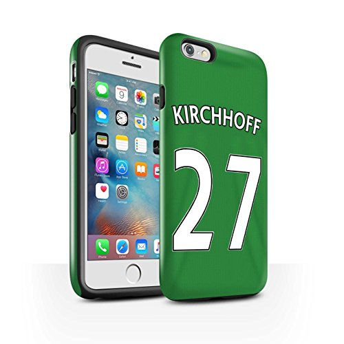 Offiziell Sunderland AFC Hülle / Glanz Harten Stoßfest Case für Apple iPhone 6+/Plus 5.5 / Pack 24pcs Muster / SAFC Trikot Away 15/16 Kollektion Kirchhoff