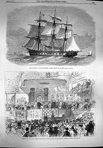 1869 Bains de Radetzky Lissa Lambeth de Bateau de Frégate d'Autrichien