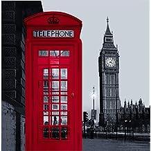 beddingleer 180cmx180cm poliéster Londres calle ciudad Landmark Big Ben de teléfono diseño de tela tejido de cuarto de baño cortina de ducha baño cortina de ducha con ganchos 71x 71cm