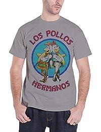 Officially Licensed Merchandise Breaking Bad Los Pollos Hermanos T-Shirt (H.Grey)