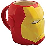 #8: Limited Edition Premium Iron Man Classic Avengers Ceramic Sculpted Coffee Mug 3D Red With Box Marvel~ Robert Downey Jr