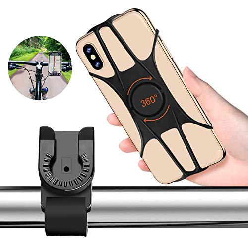 """Kriogor Handyhalterung Fahrrad, 360°Drehbar Vollbildschirm Motorrad-Handyhalterung, Universal Handy Halter Fahrrad für MTB Kinderwagen und 4-6.5\"""" Handys iPhone/Samsung/Huawei"""