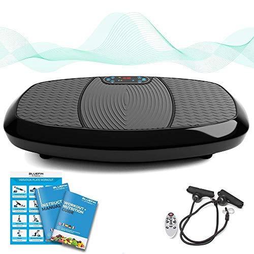 Bluefin Fitness - Plataforma vibratoria 3D con Doble Motor y Altavoz Bluetooth 4.0, oscilación y vibración, Dispositivo de Fitness Reducir la Grasa y el Peso