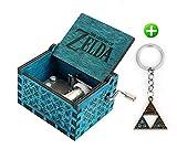 Meiion The Legend of Zelda Film Thema Antik Carved Musik Box Handkurbel aus Holz Spieluhr Spielzeug