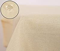 Deconovo Nappe Rectangulaire Imperméable Effet Lin Anti-tâche pour Cuisine 150x300 cm Crème