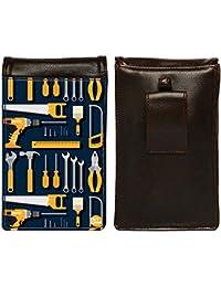Nutcase Designer Travel Waist Mobile Pouch Bag For Men, Fanny Pack With Belt Loop & Neck Strap-High Quality PU... - B075N7BR5S