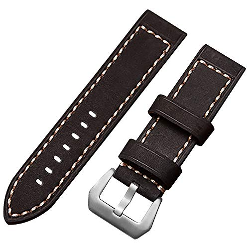 Lederarmband 20mm Uhrenarmband Kalbsleder Armband Herren Damen Ersatz 20mm Leder Uhrenarmband schwarz - Replica Watches Invicta