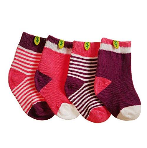 4paia di calzini Cute lovely Fashion morbida per neonati da bambino per bambini Mutilcolor 2 XS/0-6 Mesi