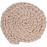MagiDeal Newborn Baby Soft Photography Photo Prop Infant Backdrop Knit Throw Blanket Rug - beige