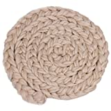 #7: MagiDeal Newborn Baby Soft Photography Photo Prop Infant Backdrop Knit Throw Blanket Rug - beige
