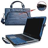 Asus X556UB X556UQ Housse,(2 en 1) spécialement conçu Étui de protection en cuir PU + sac portable Sacoche pour 15.6' Asus X556UQ X556UB X556 A556 F556 Series ordinateur portable,Bleu