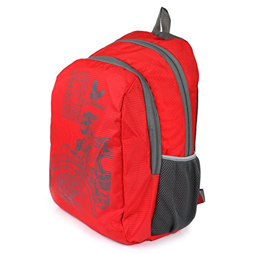Lutyens Polyester Red Mini Casual Backpack Image 3