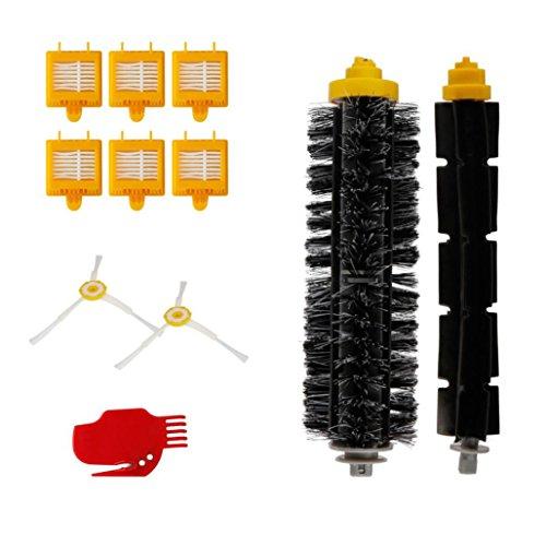 Hmeng Replace Kit pour Irobot Roomba Série 700 Hepa Réapprovisionnement Kit 760 770 780 790, Aspirateur Kit de pièces de rechange Accessoires