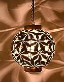 #5: Design Villa Copper Iron Hanging Light,Hanging Lamps,Ceiling Lights,Ceiling Lamp Pendant Lamp, Pendant Light for Ceiling (ideal for Bedroom,Gallery,Lobby,office,Restaurant,LivingRoom,Dining table,Dining Room,Home decoration,Outdoor decor,StudyRoom,Cafe,Modern Kitchen etc) B22 Holder