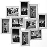 Bilderrahmen Collage Bildergalerie Wandgalerie Fotorahmen für 10 Fotos 10 x 15 cm - Farbe weiß