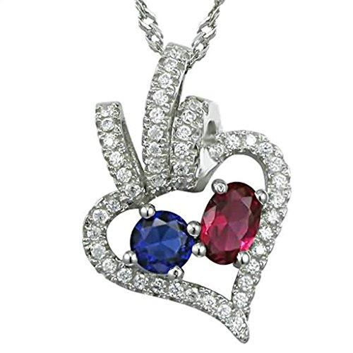 BeyDoDo Modeschmuck Damen Halskette mit Anhänger Silber 925 Kristall Herz Three Zirkonia Kreis Weiß (Jährige 8 Für Kostüm Elefanten)