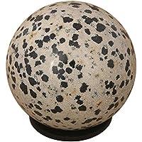 CRAFTSTRIBE Dalmatiner Jaspis-Edelstein Kugel-Kugel mit Ring Aura Balancing Kristallgeschenk preisvergleich bei billige-tabletten.eu