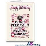 Tarjeta de cumpleaños 13th iposters porque no es mi 13th cumpleaños de la hija adolescente de la muchacha hermana
