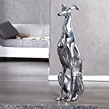 Design Skulptur Windhund Alu 70cm Hund Figur Dekoration Greyhound