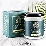 Vaitals Pure, Cold Processed, Unrefined, Unprocessed Virgin Coconut Oil, 175 ML