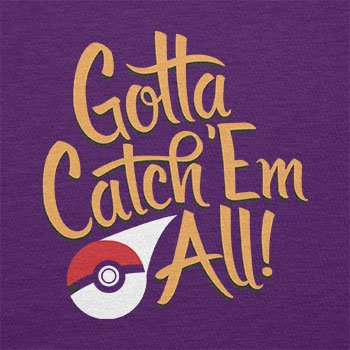 TEXLAB - Gotta catch 'Em all - Damen T-Shirt Violett