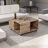 Reboz Couchtisch 80 x 80 x 42 cm Fichte-Alpin Nachbildung Tisch Wohnzimmertisch Sofatisch