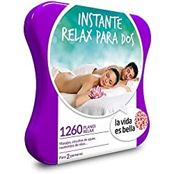 La vida es bella - Caja Regalo - Instante Relax para Dos - 1260 Planes de Bienestar como masajes, Momentos Relax, circuitos de Agua y Mucho más
