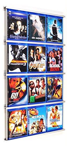 Preisvergleich Produktbild Railposter: Blu-ray Wandregal - Designregal - Regal für Bluray`s & Steelbook`s mit 12-16mm Dicke