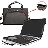 Asus X540SA X540LA Housse,2 en 1 spécialement conçu Étui de protection en cuir PU + sac portable Sacoche pour 15.6' Asus VivoBook X540SA X540LA A540LA series ordinateur,Noir