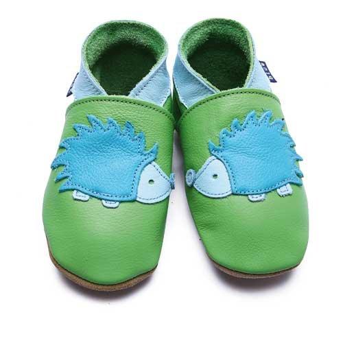 Inch Blue Chaussures Bébé Souples - Hedgehog - Vert / Turquoise - T 19-20 cm