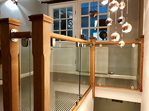 Balustrade Kit (Eiche Handlauf & Glas Landung Balustrade Kit)