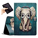 Bspring Custodia Serie Magic Book per Kindle Paperwhite 2018, Custodia in Pelle Folio Smart Cover con Auto Sleep Wake Caratteristica Adatta a Tutti i Modelli di Paperwhite Kindle e Vecchi, Elefante