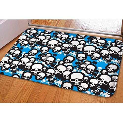 ferfgrg Custom Door Mats, Cute 3D Skull Print Front Floor Mats Doormats Indoor Outdoor Bedroom Kitchen Carpet (Gnome-möbel)