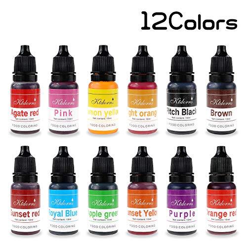 Ttdm colorante alimentare alimenti dye flo concentrated liquid food air brush–12colori con super grande capacità