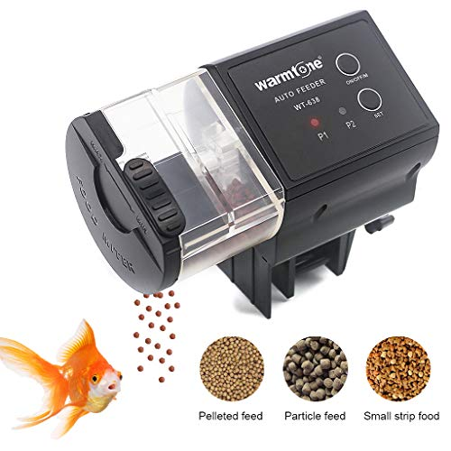 boxtech Automatisierte Futterspender Fischfütterung Automatische Futterautomat für Fische Aquarium (schwarz)