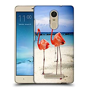 Snoogg Flamingos Designer Protective Phone Back Case Cover For Xiaomi Redmi Note 3