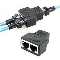 Yilan, adattatore di rete RJ45, porta femmina a 2femmina RJ45,adattatore splitter per presa Ethernet CAT 5/CAT 6, LAN
