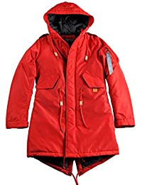 Alpha Industries Mujer Parka, rojo, extra-large