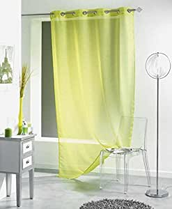 rideau voilage liss a 140x240 cm vert anis cuisine maison. Black Bedroom Furniture Sets. Home Design Ideas