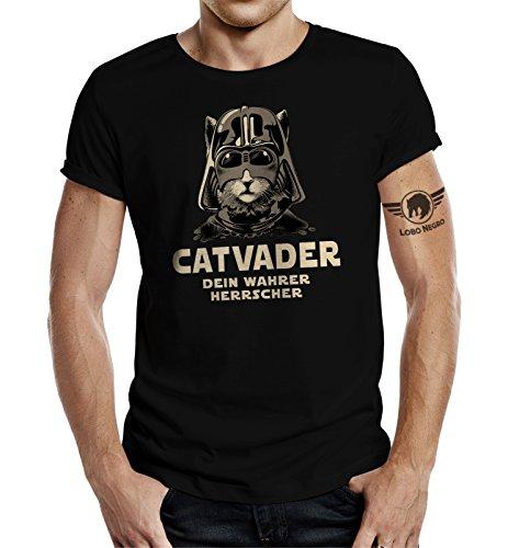 Katzen T-Shirt: CAT-Vader Dein wahrer Herrscher-XXXL